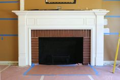 Looking to update your old fireplace? This step-by-step process takes you through how we transformed our old fireplace into a white marble tile fireplace that we absolutely love. Fireplace Update, Old Fireplace, White Fireplace, Fireplace Remodel, Fireplace Ideas, Fireplace Makeovers, Fireplace Decorations, Mantle Ideas, Electric Fireplace