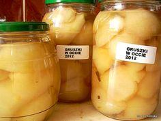 Polish Recipes, Vegetable Salad, Canning Recipes, Preserves, Pickles, Cucumber, Mason Jars, Food And Drink, Healthy Recipes