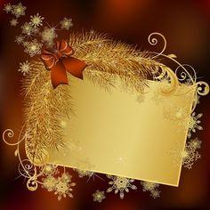 Gold Christmas Wallpaper, Christmas Background, Christmas Frames, Merry Christmas, Xmas, Clipart Noel, Christmas Clipart, Christian Art, Scrapbook Paper