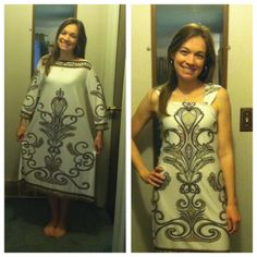 Refashioned dress. Unflattering to perfect date night dress!