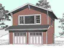 Craftsman Style Two Story 2 Car Garage Plan 996-1 by Behm Design
