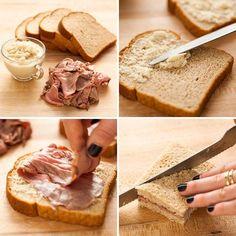 Roast Beef + Horseradish Tea Sandwich