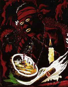 divinemoon:  Elegua for he is the owner of all doors roads and...