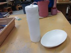 Also ready to glaze my straw holder. Can't wait to see how it turns out after it's fired!
