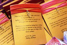 Evil-Eye Bracelets: The mom-to-be made evil-eye bracelets for the party guests.  Source: Lilyshop