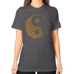Yin Yang Leopard Unisex T-Shirt (on woman)