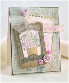 You Are My Sunshine Card by Debbie Olson for Papertrey Ink (April 2012)