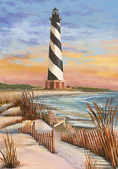 Coastal Hatteras Lighthouse Beach Nautical Custom Decor Decorative Garden Flag   eBay