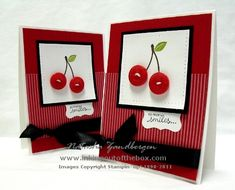 Bunch of Cherries by Natasha Zandbergen - Cards and Paper Crafts at Splitcoaststampers