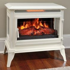 The JACKSON Free Standing Electric Stove Fireplace: http://www.electricfireplacesdirect.com/blog/Product-Spotlight-The-Jackson-by-Comfort-Smart?utm_source=pinterest&utm_medium=social&utm_campaign=jackson