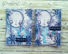 Artwork created by Maka Art using rubber stamps designed by Daniel Torrente for Stampotique Originals