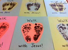 """This craft can stand for the letter W in a few different ways- It can either be """"W is for Walk With Jesus"""" or """"W is for Walk on Water"""" or even """"W is for Wash feet.&#82…"""