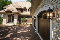 lights are on a block not on the stone.    Exteriors - traditional - exterior - minneapolis - Stonewood, LLC