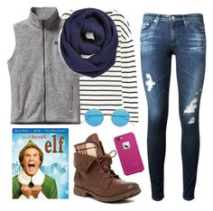 """Falling for Will Ferrell!!!"" by kaitlynbug1226 ❤ liked on Polyvore featuring J.Crew, Patagonia, BP., AG Adriano Goldschmied, Rock & Candy, Illesteva and LifeProof"