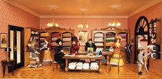 The cloth and fabric department in the largest miniature department store in the world.