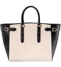 ASPINAL OF LONDON - Marylebone Tech monochrome leather tote bag | Selfridges.com