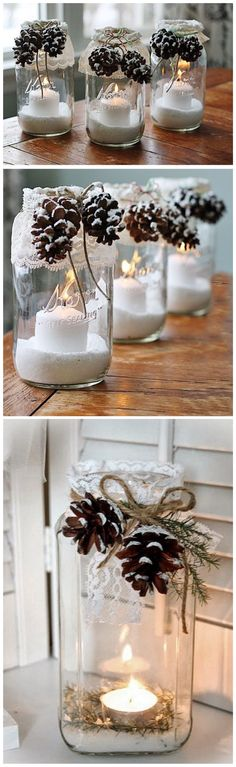 DIY winter candle