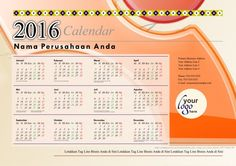 Calendar 2016 - Free Download Vector PDF JPG - Design_02_Accessory Bar