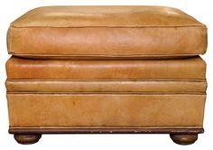 Vintage Ralph Lauren Leather Ottoman - $675.