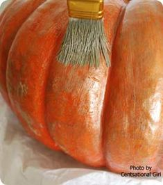 pumpkin decorating ideas~metalic glazed   ~front porch ideas and more