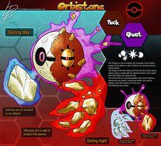 Orbistone *Forms a trio with Lunatone and Solrock Source. Pokemon Fusion, Pokemon Fake, Ghost Pokemon, Pokemon Comics, Pokemon Memes, Pokemon Fan Art, Pokemon Sun, Cool Pokemon, Curious Creatures