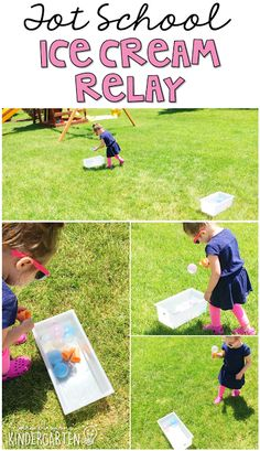 Security Check Required - Megan Browning - Security Check Required Get moving with this ice cream relay gross motor activity. Perfect for an ice cream theme in tot school, preschool, or the kindergarten classroom. Ice Cream Games, Ice Cream Theme, Ice Cream Day, Gross Motor Activities, Summer Activities, Toddler Activities, Childcare Activities, Toddler Learning, Therapy Activities