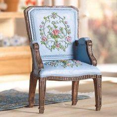 Pretty Blue George III Chair