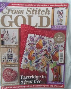 Cross Stitch Gold Magazine December 2013 Issue 39 UK Edition Christmas Projects