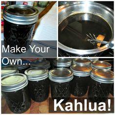 How to make homemade Kahlua in Mason Jars! So, so yummy!