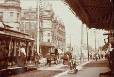 Intersection of Milwaukee, North and Damen, Wicker Park/Bucktown, 1905, Chicago. Wicker Park History Association