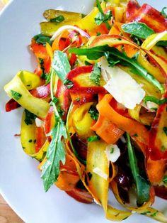 #rainbow #ribbon #salad