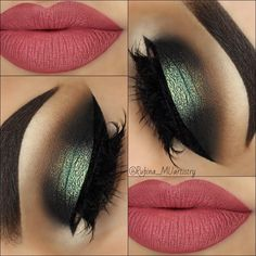 green eyes makeup and peach lips looks luvly
