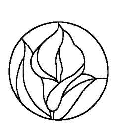 flores dibujo vitral - Buscar con Google