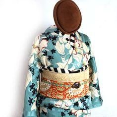 芍薬浅黄色の柔らか着物 - ポップでガーリーな普段着物・ヘッドドレス・古道具・雑貨・アンティークやアーティスト作品の販売 『chiwachiwa ちわちわ』
