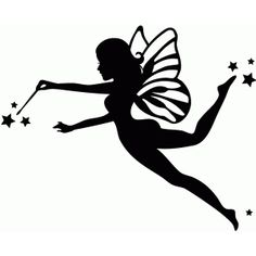 Silhouette Design Store - View Design #66591: flying fairy