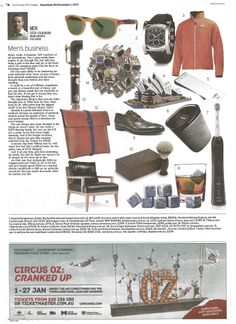 Design in Print│ The Sydney Morning Herald Christmas Gift Guide November 2013 featuring the Arthur G Martin Chair