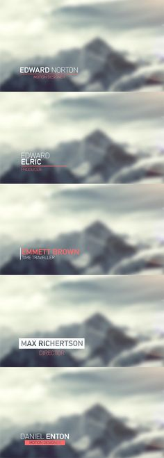 Light Lower Thirds - After Effects Project Files | VideoHive: