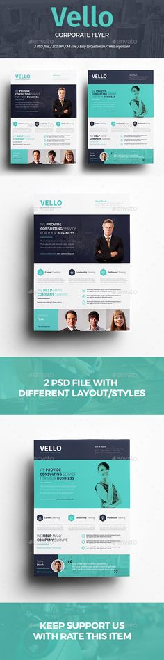 Corporate Business Flyer \/ Poster Advertising Template PSD, Vector - seminar flyer