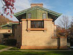 Dana Thomas House, Frank Lloyd Wright. Prairie Style. Springfield, Illinois. 1902-4