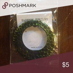 Green hoop earrings New never opened Fashion jewelry Jewelry Earrings