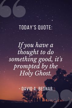 Elder Bednar thinks we overcomplicate and overanalyze what revelation truly is, and he gives us the key to knowing when the Holy Ghost is talking to us. Jesus Christ Quotes, Gospel Quotes, Faith Quotes, Mormon Quotes, Deep Quotes, Today Quotes, Success Quotes, Church Quotes, Spiritual Thoughts