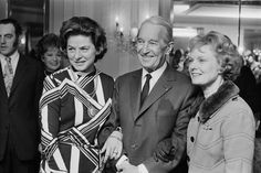 French actor and singer Maurice Chevalier (1888 - 1972) with Swedish actress Ingrid Bergman (1915 - 1982, left) and British actress Dame Anna Neagle (1904 - 1986) at a Foyles literary lunch, London, 3rd March 1971. The event marks the publication of Chevalier's book, 'I Remember It Well'. Chevalier (1888 - 1972) with Swedish actress Ingrid Bergman (1915 - 1982, left) and British actress Dame Anna Neagle (1904 - 1986) at a Foyles literary lunch, London, 3rd March 1971. The event marks the…