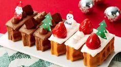 切り分け不要で楽チンクリスマスワッフルドルチェエールエルに--ずらりと並べて特大ケーキにも