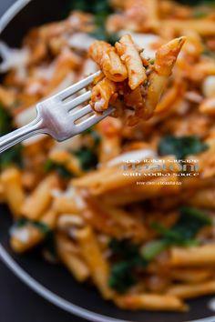 Spicy Italian Sausage Pasta with Vodka Sauce