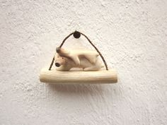 Polar Bear with a baby wood carving wood sculpture by plad on Etsy, $34.00