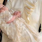 What a cutie Prince George is!!  Click for a full slideshow of all the best pictures from the royal baptism (10/23/13) #katemiddleton #princegeorge #royalbaby #baptism