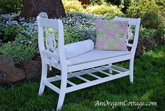 This detailed tutorial will bring you a French-style bench from 2 broken chairs.