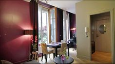 beautiful view on the garden Paris Apartments, Cool Apartments, Rental Apartments, Trip Advisor, Curtains, Vacation, Mirror, Design, House