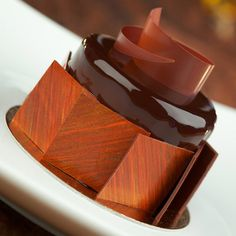 Chocolate Mousse with Orange Crème and Chocolate Cake #NormanLoveConfections