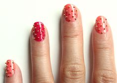 studded manicure how to.